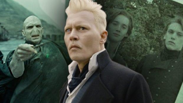Johnny Depp nei panni di Grindelwald