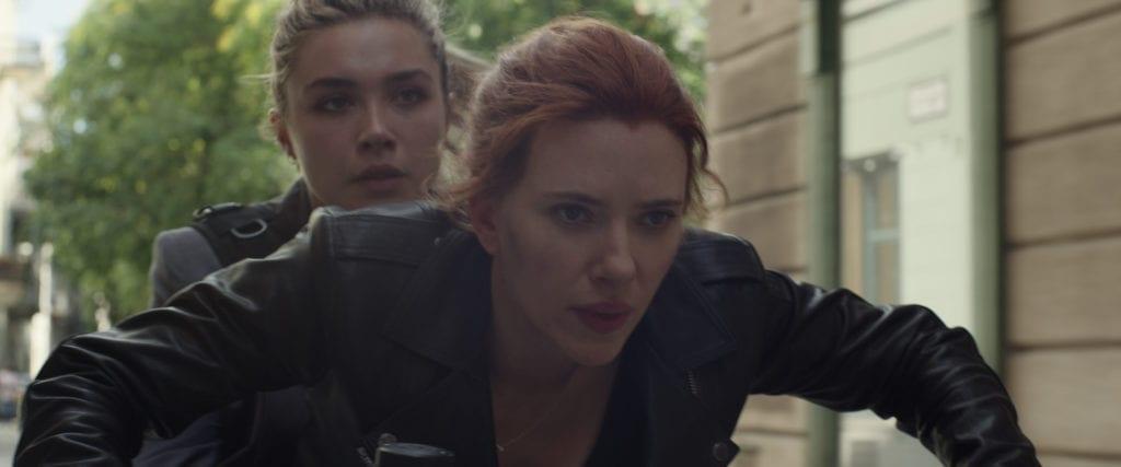 Florence Pugh e Scarlett Johansson in Black Widow